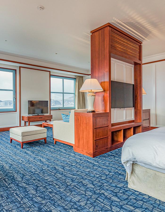 コアネスが内装工事を行ったホテルの客室写真